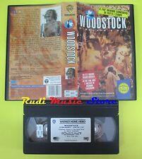 VHS WOODSTOCK Director's cut 1994 WARNER GLI SCUDI PIV 13549 no mc cd dvd (VM9)