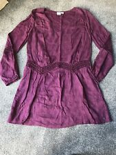 ROXY Purple Size Small Long Sleeve Dress Worn Once Excellent Condition