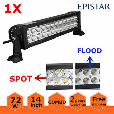 14inch 72W Combo Epistar LED Work Light Bar Offroad Driving Jeep SUV ATV Lamp