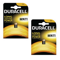 1/2 x Duracell MN11 Security Battery Alkaline 6v Batteries Alarm 11A E11A LR11A