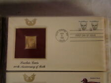 1985 SINCLAIR LEWIS 100TH ANNIVERSARY OF BIRTH 22kt Gold STAMP replica INFO CARD