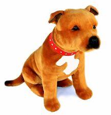 Staffordshire Bull Terrier Staffy Plush Soft Toy Dog 40cm Lester by Bocchetta