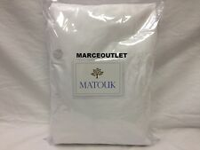 Matouk Nocturne 600 Thread Count Cotton Sateen King Fitted Sheet White