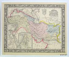 Color Map: Turkey in Asia, Afghanistan, Beloochistan 1866 Palestine Iran Arabia