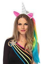 Leg Avenue Magica Unicorn Arcobaleno Fascia Parrucca fatto Costume o / S