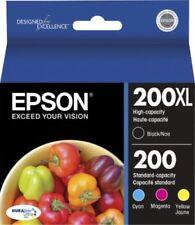 4 Genuine Epson 200XL Black-200 Color Ink WF2520 WF2530 WF2540 XP300 XP200 XP410