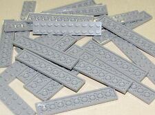 LEGO LOT OF 25 NEW LIGHT BLUISH GREY 2 X 10 PLATES BLOCKS BRICKS PIECES