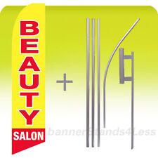 Beauty Salon Swooper Flag Kit Feather Flutter Banner Sign 15' Tall - yb