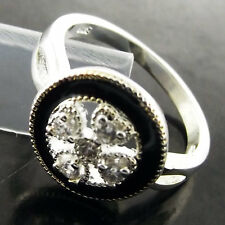 FSB026 GENUINE REAL 925 STERLING SILVER S/F LADIES DIAMOND SIMULATED RING US7