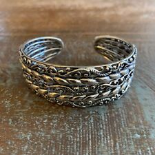 8f3767f2777 Carolyn Pollack Sterling Silver Signature Multi Row Cuff / Bracelet Size  Average