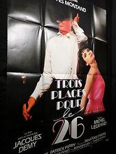 TROIS PLACES POUR LE 26  ! jacques demy y montand  affiche cinema