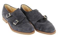 Alfred Sargent J Crew Double Monk Strap Shoes 11 A1378 Blue