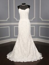 NEW! Isabelle Armstrong Georgia X White Lace Trumpet Sweep Train wedding dress