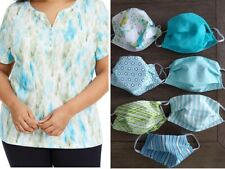 Plus Size Top with TWO Free Masks 1X, 2X, 3X, 4X Karen Scott Short Sleeve