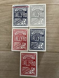Tally Ho - Red- Silver- Blue Job Lot Playing Cards X5 Not Bicycle