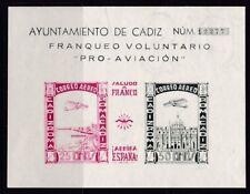 ESPAÑA - GUERRA CIVIL - CADIZ - AYUNTAMIENTO DE CADIZ - NUMERO CONTROL