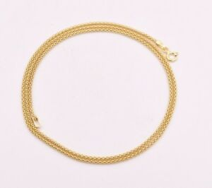 Technibond Popcorn Coreana Chain Necklace 14K Yellow Gold Clad 925 Silver Italy