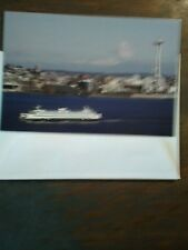 VINTAGE LOT OF 2 WASHINGTON STATE FERRIES CHIRTMAS CARD PUGET SOUND FERRIES