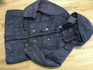 Maine New England Ladies Brown Hooded Parka Coat Size 16