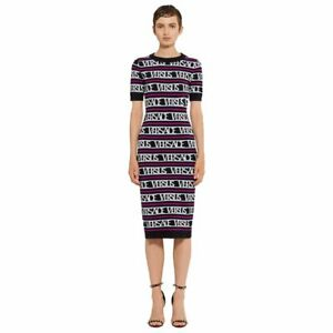 VERSUS by Versace Womens Logo Printed Dress Size 36 IT  0 US NEW