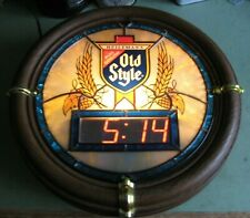 Vintage 1988 HEILEMANS OLD STYLE BEER Tavern Wall Sign w/ Nixie Tube Clock