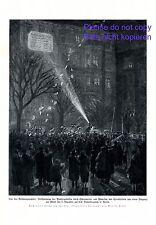 Wahlergebnis Reichstag 1924 XL Kunstdruck Flugblatt Scheinwerfer Wahlen Partei +