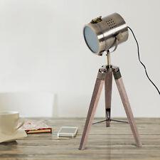 Homcom Tischleuchte Scheinwerfer Stehlampe Tripodlampe E14 Retroleuchte Dreibein