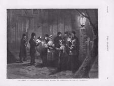 1876 - Antique Print CANADA Christmas Carol Singing Longueuil St Lawrence  (131)