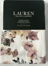 Ralph Lauren Floral Pink Mauve Flower Cotton Shower Curtain 70 x 72 New