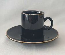 Nescafe Espresso by Hornsea Pottery England Black & Gold Cup and Saucer