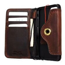 genuine retro real leather Case for apple iphone 7 book wallet cover brown thin