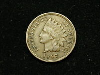 NEW INVENTORY XF 1907 INDIAN HEAD CENT PENNY w/ DIAMONDS & FULL LIBERTY #142h
