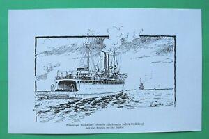UM7) Marine Mine Minenleger DEUTSCHLAND ehemals SASSNITZ Fähre 1914-1918 1.WK WW