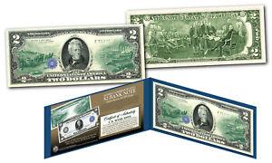 1914 Series $10 Andrew Jackson FRN designed on modern Genuine $2 U.S. Bill
