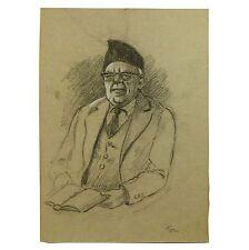 Original Holloway Bristol Savage Gentleman Character Portrait Sketch Painting