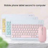 """10"""" Rechargeable Wireless Bluetooth Keyboard For Tablet holder ipad W/ PC T4E6"""