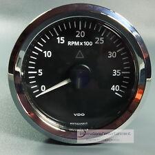 VDO  VIEWLINE ELEKTR.  DREHZAHLMESSER - 4000UPM  85MM  chrom TACHOMETER 12 + 24V