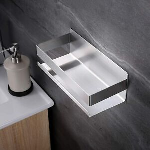 Stainless Steel Bathroom Shower Shelf Storage Rack Wall Mounted Holder Organizer