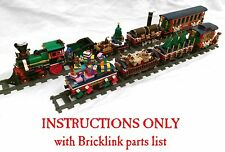 INSTRUCTIONS for SIX custom Christmas cars for Lego 10254 Winter Village Train