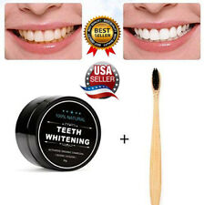Natural Whitening Tooth Gum Powder  Activate Charcoal Toothpaste+FREE Toothbrush