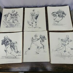 HUGE LOT OF VINTAGE NEW ENGLAND PATRIOTS SHELL OIL LITHOGRAPHS 1981 158 TOTAL!