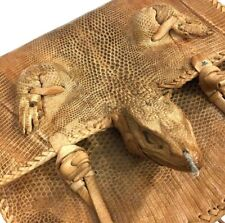 Vtg 50's Lizard Skin Taxidermy Head Legs Shoulder Bag Purse
