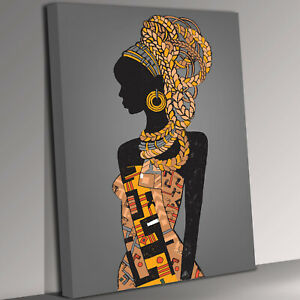 Solo African Lady Canvas Wall Art Picture Print