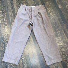 Vtg 40s 50s Stix Baer Fuller Dress Pants Trousers Pleated Wool Brown Mens 36 28