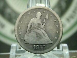 "1875 ""S"" Twenty Cent Silver Piece 20c #11  East Coast Coin & Collectables, Inc."