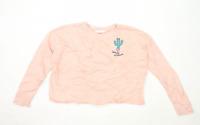 Sugar Dust Womens Size L Graphic Cotton Pink Cactus Jumper (Regular)