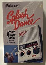 Vintage 1987 Pollenex Splash Dance Am Fm Shower Radio Sr1 with Box