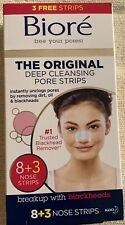 New BIORE Deep Cleansing Pore Strips 8+3( Nose) Brian You Easy To Use