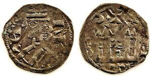 Spain- Alfonso VIII (1158-1214). Dinero Burgales. 0,7 g. EBC-/XF-. ESCASA