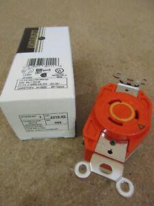 Leviton 2310-IG 20A 2P 3W 125V Orange Twist-Lock Receptacle L5-20R (V551)